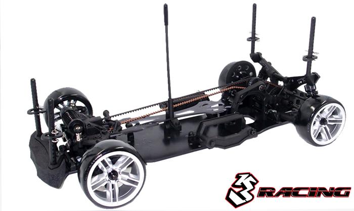 3Racing Sakura D4 Aluminum Rear Shock Tower Pink EP RC Cars Drift #SAK-D4813//V2